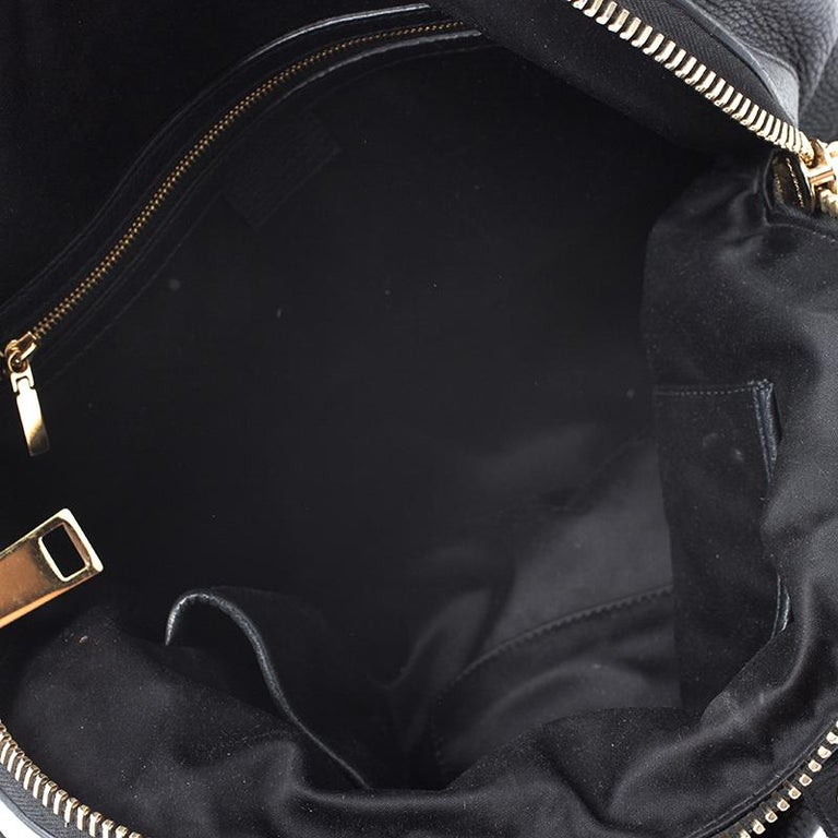 Versace Black Leather Chain Satchel For Sale 1