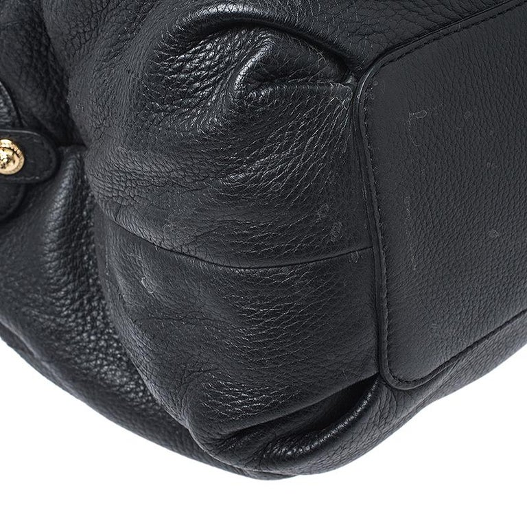 Versace Black Leather Chain Satchel For Sale 4