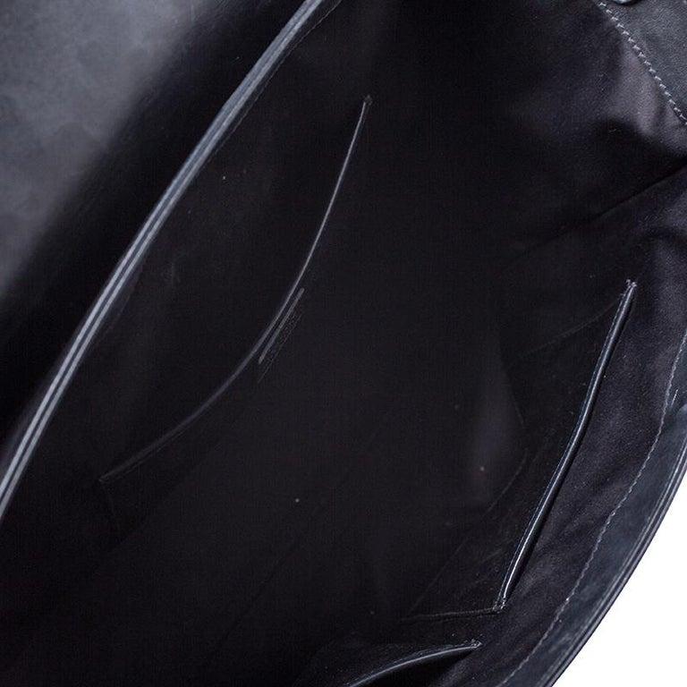 Versace Black Leather Large Medusa Medallion Tote For Sale 3