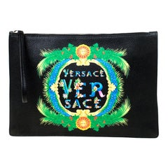 Versace Black Leather Miami Clutch