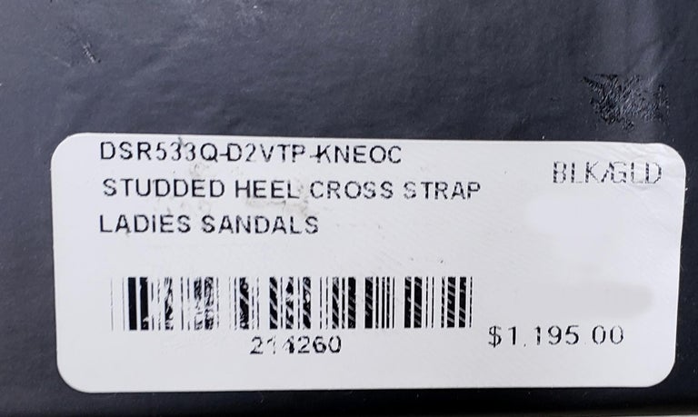 VERSACE BLACK LEATHER SANDALS SHOES with GOLD MEDUSA STUDS 36.5, 37, 38, 39, 40 For Sale 6