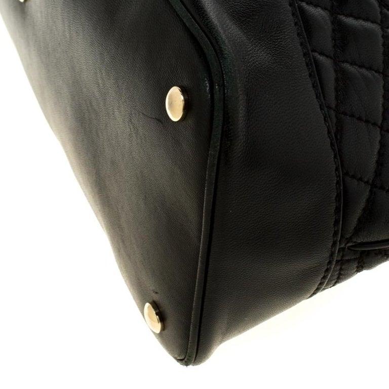 Versace Black Leather Satchel For Sale 5