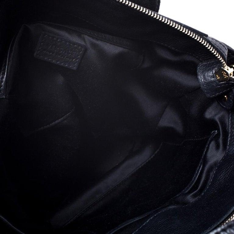 Versace Black Leather Shoulder Bag For Sale 6