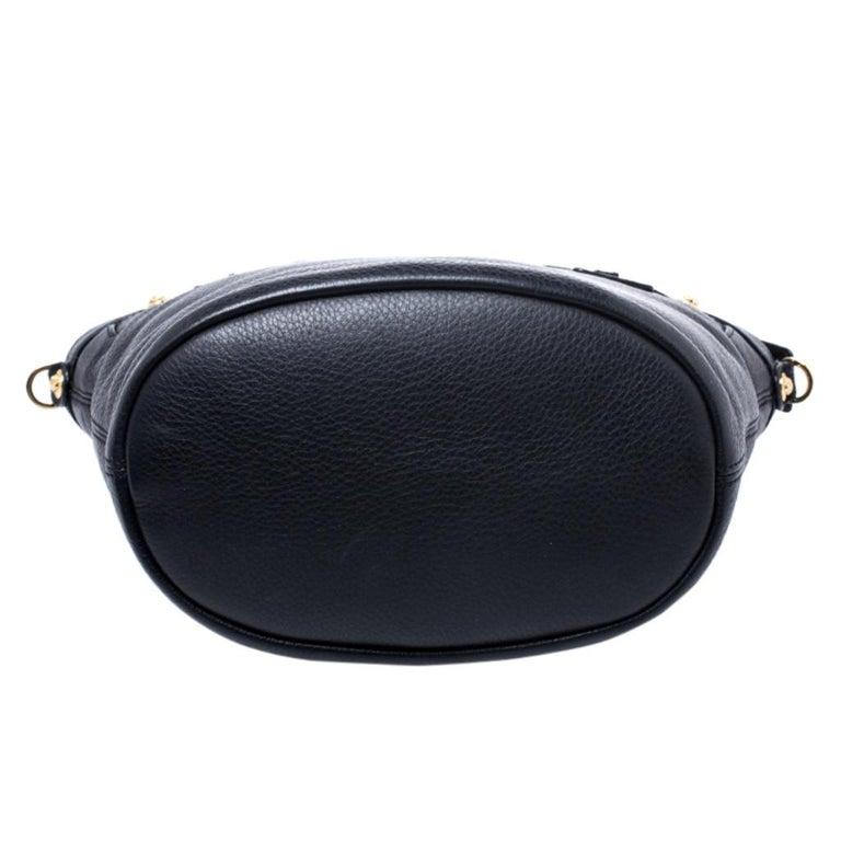 Versace Black Leather Shoulder Bag For Sale 1