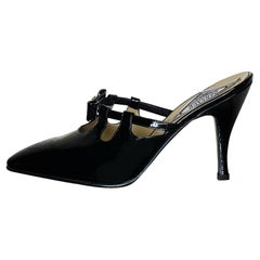 VERSACE BLACK PATENT LEATHER PUMP SHOES from ATELIER COLLECTION