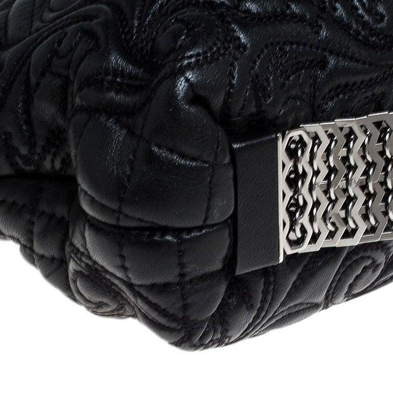 Versace Black Quilted Leather Vanitas Shoulder Bag For Sale 2