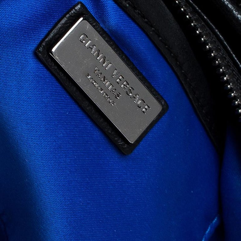 Versace Black Quilted Leather Vanitas Shoulder Bag For Sale 3