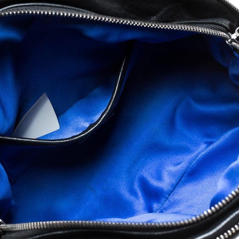 Versace Black Quilted Leather Vanitas Shoulder Bag For Sale 4