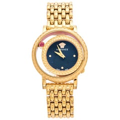 Versace Black Rose Gold Plated Venus VDA040014 Women's Wristwatch 33 mm