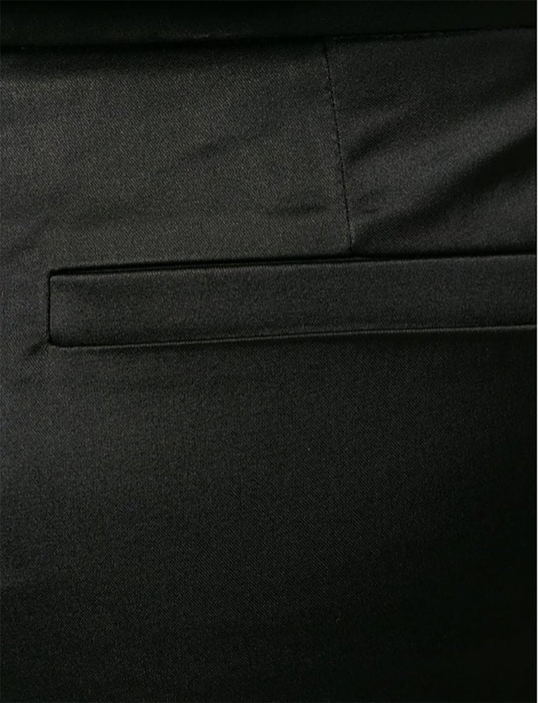 Women's Versace Black Satin Flare Bootcut Trousers For Sale