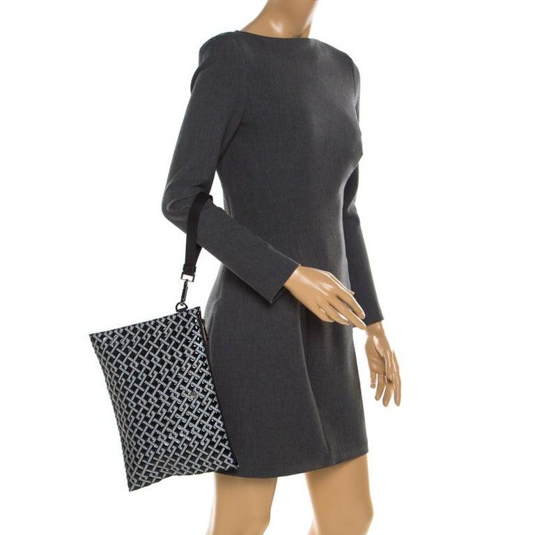 c67c4ff9 Versace Black Signature Patent Leather Pouch