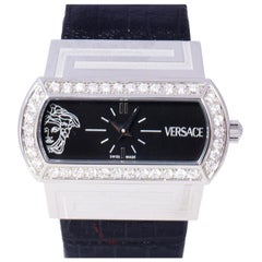 Versace Black Stainless Steel PS91990 Men's Wristwatch 40MM