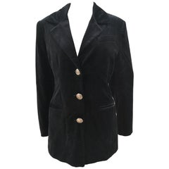 Versace black velvet blazer