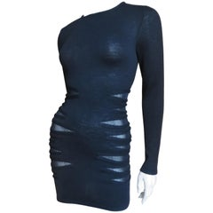 Versace Bodycon Dress with Side Cutouts
