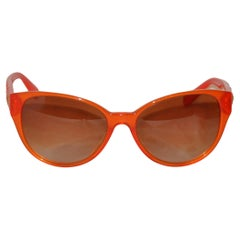 Versace Bold Tangerine with Signature Logo and gold hardware studs Sunglasses