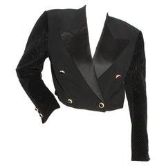 Versace Bolero Tuxedo Jacket Circa 1980's