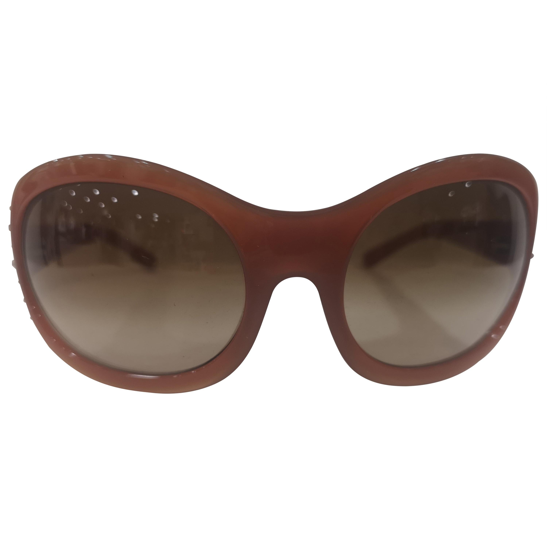 Versace brown swarovski sunglasses NWOT