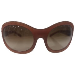 Versace brown swarovski sunglasses NWOT