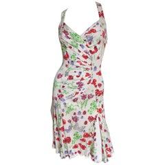 Versace Butterflies and Flowers Backless Dress