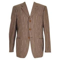 Versace classic greek geometric blazer