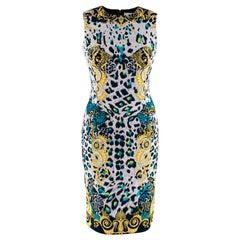 Versace Collection Baroque Leopard Print Dress - Size US2