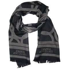 Versace Collection Black & Grey Mens Scarf ISC40R1WIT02855I4019