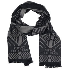 Versace Collection Black & Grey Mens Scarf ISC40R1WIT02856I4019
