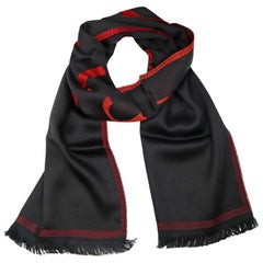 Versace Collection Black & Red Mens Scarf ISC38R2WIT02846I4081
