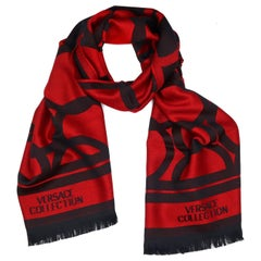 Versace Collection Black & Red Mens Scarf ISC40R1WIT02855I4081