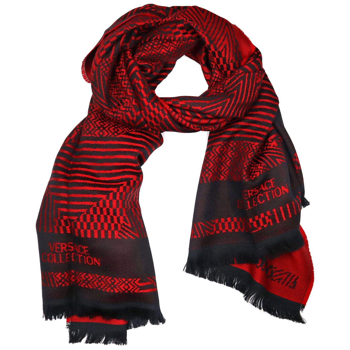 Versace Collection Black & Red Mens Scarf IST7R02IT02853I4081