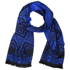 Versace Collection Black & Royal Blue Mens Scarf ISC40R1WIT02856I4071