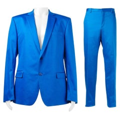 VERSACE COLLECTION BLUE SUIT (as seen on JUSTIN) 56 - 46