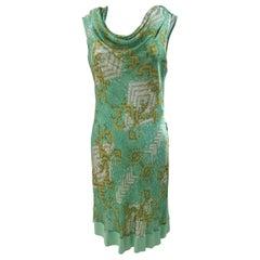 Versace Collection green dress