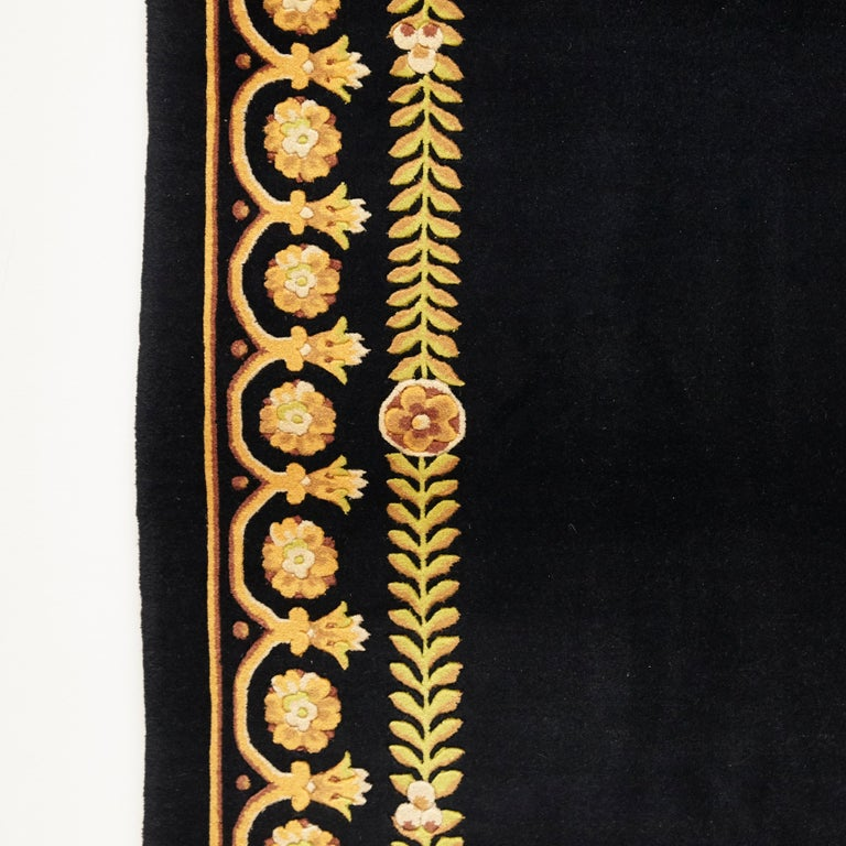Versace Collection Rug Petit Barocco Nero Black Gold, 1980 For Sale 8