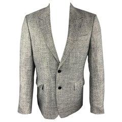 VERSACE COLLECTION Size 38 Grey Heather Viscose Peak Lapel Sport Coat
