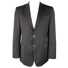 VERSACE COLLECTION Size 42 Black Wool Notch Lapel Sport Coat