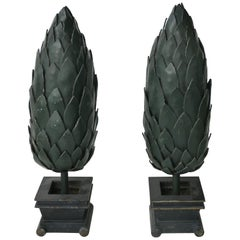 Versace Commissioned Pair of Iron Topiary Sculptures