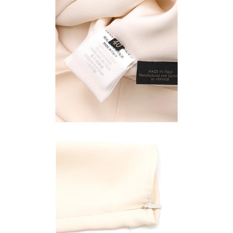 Versace Cream Mini Dress with Crystal Embellished Shoulders & Belt 40 IT For Sale 6
