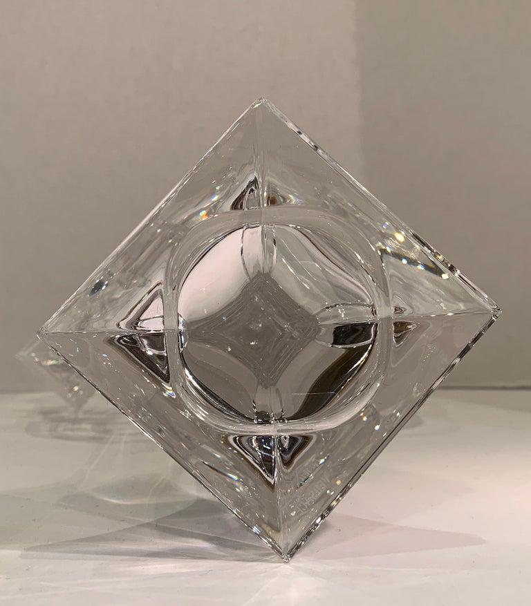 Versace Crystal Candelabra by Rosenthal 3 Branch Candle Holder  For Sale 4