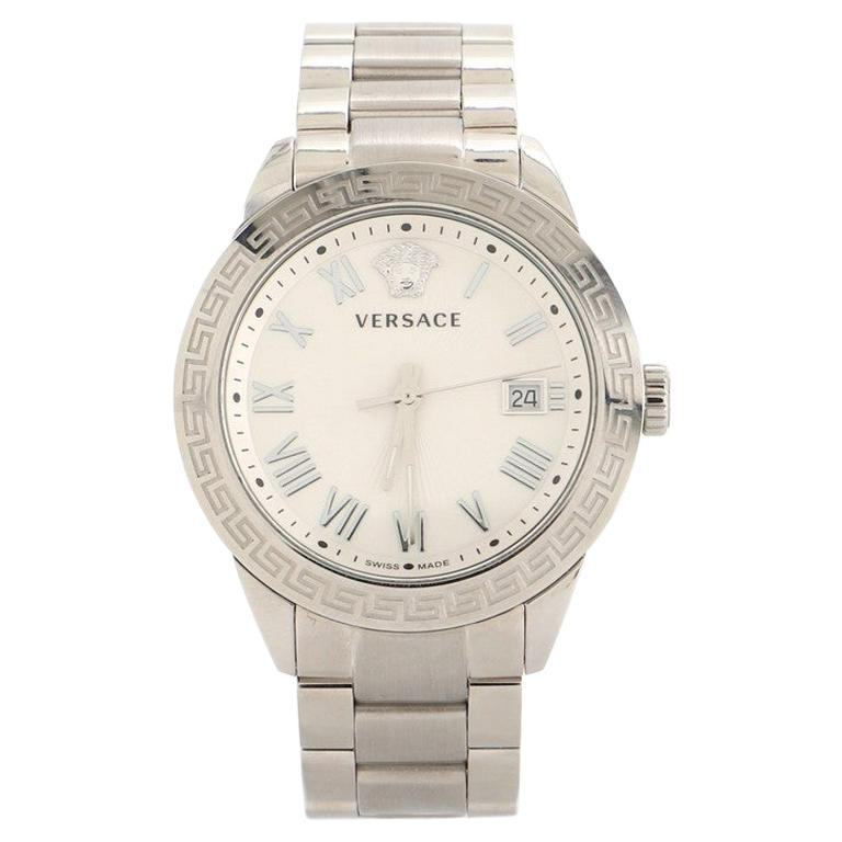 Versace Daphnis Date Quartz Watch Stainless Steel