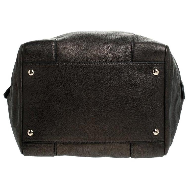 Versace Dark Bronze Leather Vanitas Satchel For Sale 6