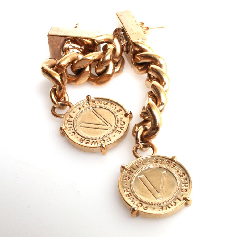 VERSACE Drop Earrings In Fair Condition For Sale In Melbourne, Victoria