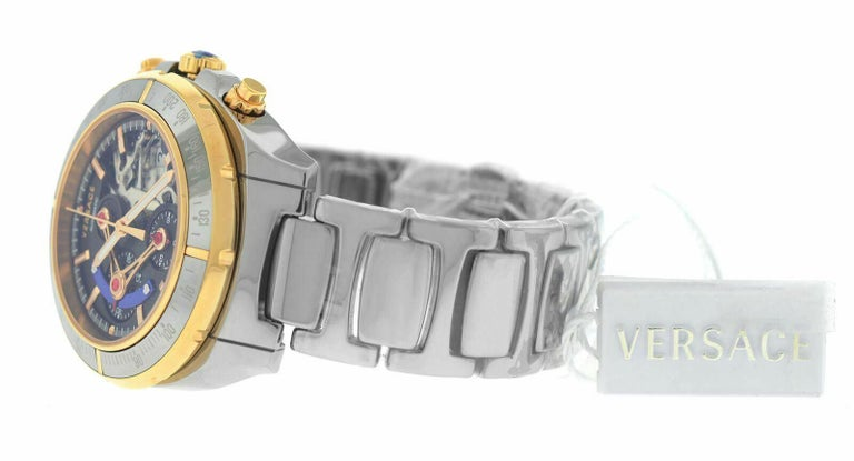Versace DV One Skeleton VK802 /0013 Limited Ceramic Chronograph Watch In New Condition For Sale In New York, NY