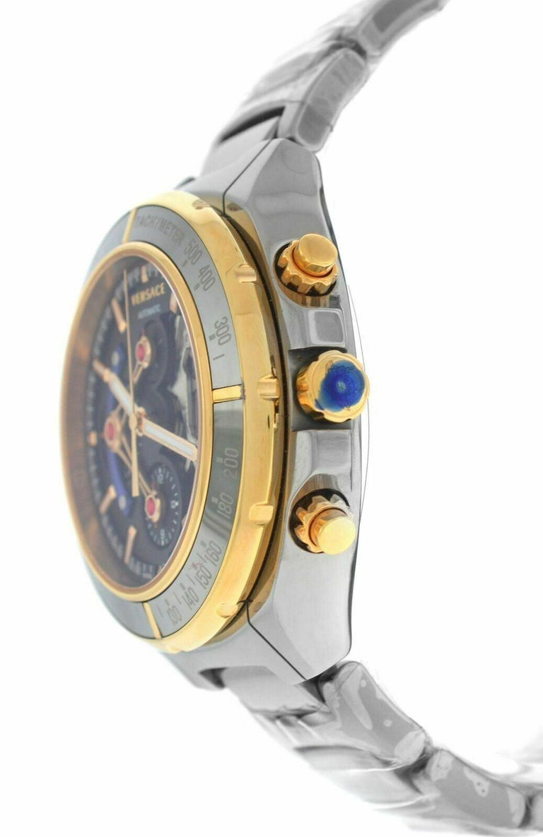 Men's Versace DV One Skeleton VK802 /0013 Limited Ceramic Chronograph Watch For Sale
