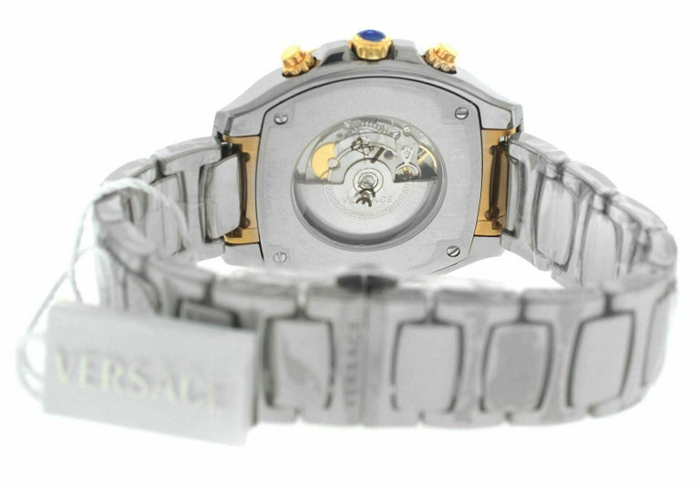 Versace DV One Skeleton VK802 /0013 Limited Ceramic Chronograph Watch For Sale 1