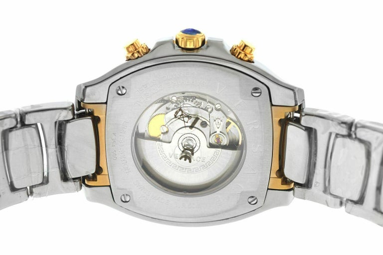 Versace DV One Skeleton VK802 /0013 Limited Ceramic Chronograph Watch For Sale 2
