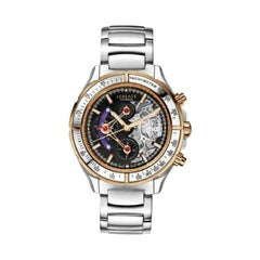 Versace DV One Skeleton VK802 /0013 Limited Ceramic Chronograph Watch