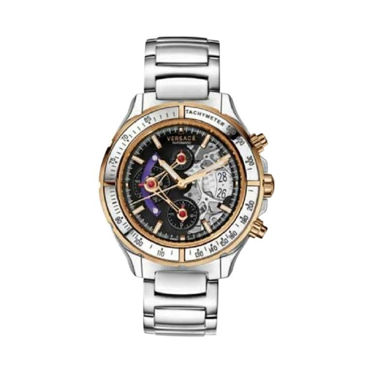 Versace DV One Skeleton VK802 /0013 Limited Ceramic Chronograph Watch For Sale
