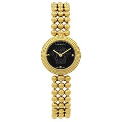 Versace Eon Soiree Gold Tone Black Dial Steel Quartz Ladies Watch 94Q80D008 S080