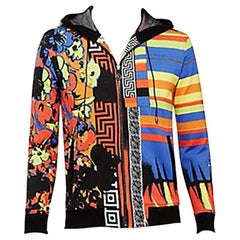 VERSACE FIORE PRINTED ZIP UP JACKET ***same print as SILK SHIRT on BRUNO MARS***